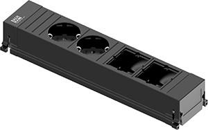 Power Frame Steckdose 4-fach 2/2C