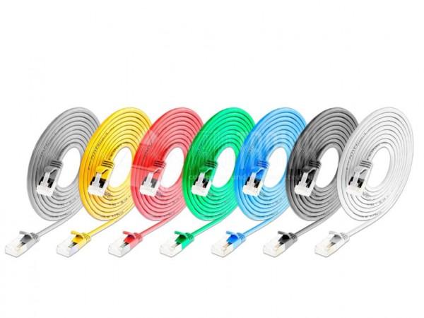 KAT6A 10 Gigabit Lightpatchkabel rund, U/FTP, Ø 3,8mm