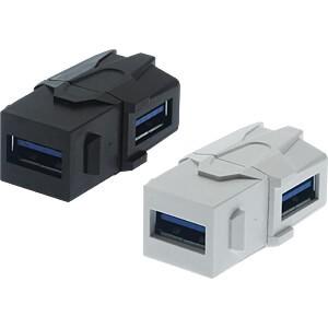 Keystone USB-A 3.0 Gender Changer 90° gewinkelt