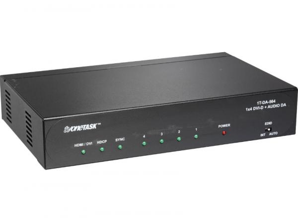 tvONE 1T-DA-564 DVI Verteiler + Audio, 1x4