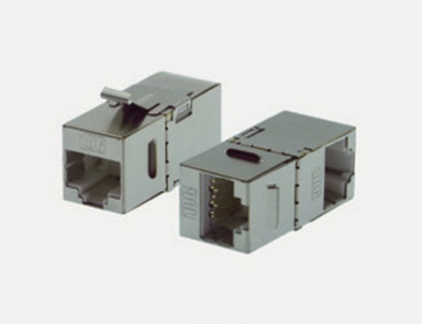 Keystone Adapter Cat.6A RJ45 90° gewinkelt