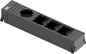 Power Frame Steckdose 4-fach 1/3C