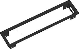Power Frame Einbaurahmen 4-fach schwarz