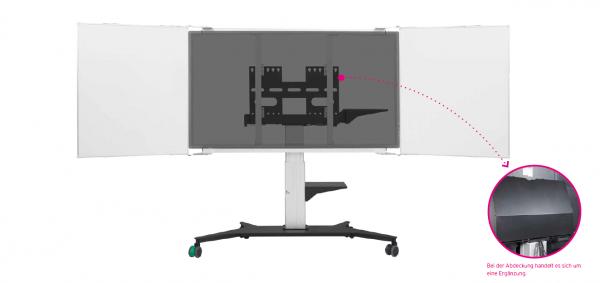 REMONTA RME/RBWE F-W - Tafelflügel für Display Stahlemail weiß
