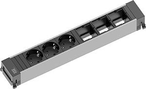Power Frame Steckdose 6-fach 3/3C