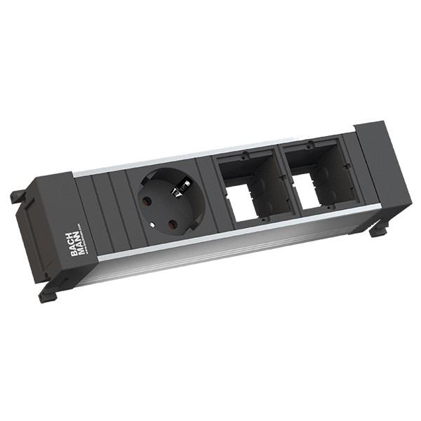 Power Frame Steckdose 3-fach 1/2C